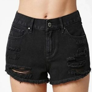 Bullhead Black High Rise Shorts